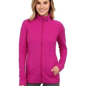 Under Armour Studio Lux fitted jacket thumbholes M
